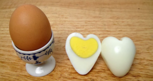 Learn how to make hard-boiled eggs in the shape of a heart