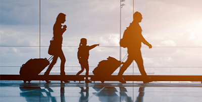 Travel with babies and young children