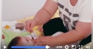 Mother arranges fun way to feed your baby! (video)