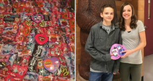 He offered chocolates to all 537 school friends on Valentine's Day